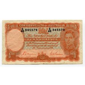 Australia 10 Shillings 1939 (ND)