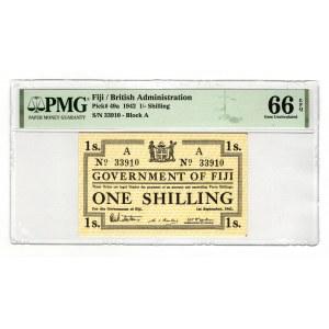 Fiji 1 Shilling 1942 PMG 66 EPQ