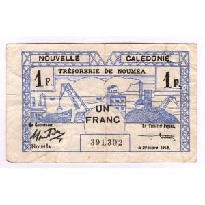 New Caledonia 1 Franc 1943