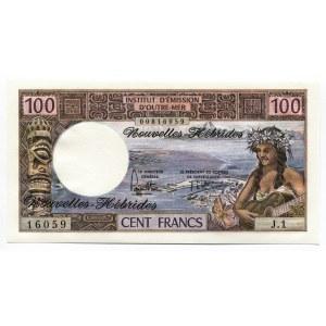New Hebrides 100 Francs 1975 (ND)