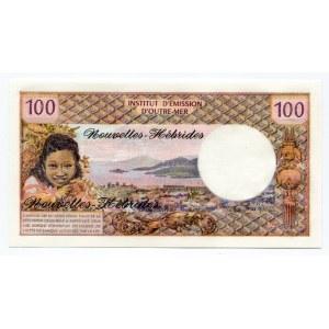 New Hebrides 100 Francs 1977