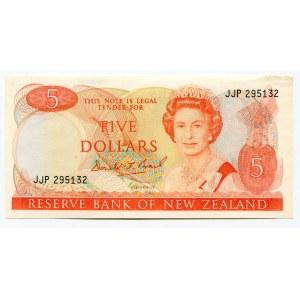 New Zealand 5 Dollars 1989 - 1992
