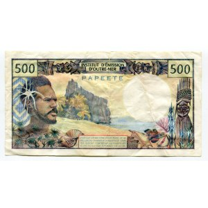 Tahiti 500 Francs 1977 (ND)