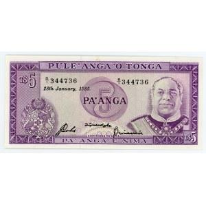 Tonga 5 Panga 1985