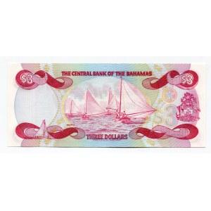 Bahamas 3 Dollars 1974
