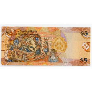Bahamas 5 Dollars 2007
