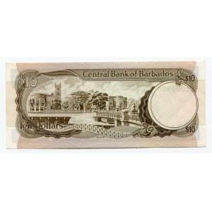 Barbados 10 Dollars 1973