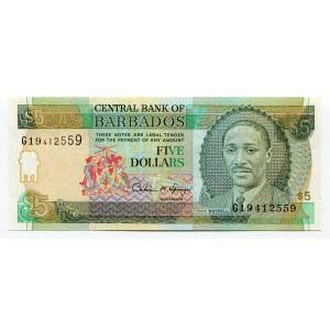 Barbados 5 Dollars 1996