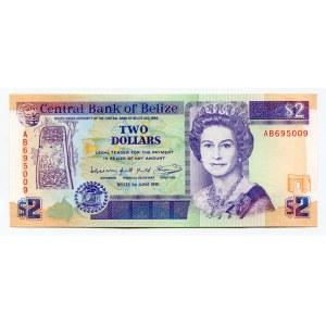 Belize 2 Dollars 1991