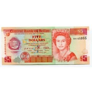 Belize 5 Dollars 1996