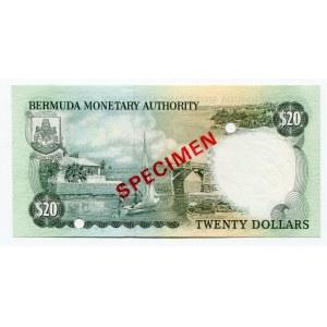 Bermuda 20 Dollars 1984 SPECIMEN