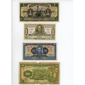 Bolivia Lot of 4 Banknotes 1911 - 1928