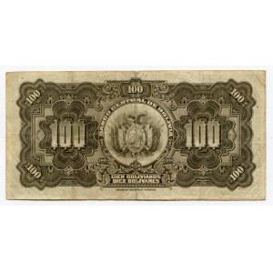 Bolivia 100 Bolivanos 1928 (ND)