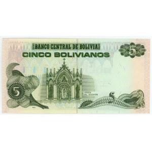 Bolivia 5 Bolivanis 1986