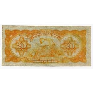 Brazil 20 Cruzeiros on 20000 Reis 1942