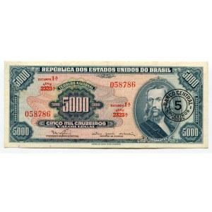 Brazil 5 Cruzeiros on 5000 Cruzeiro 1966 - 1967