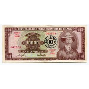 Brazil 10 Cruzeiros on 10000 Cruzeiro 1967