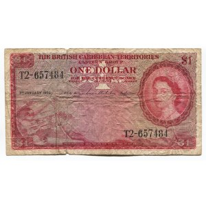 British Caribbean Territories 1 Dollar 1956