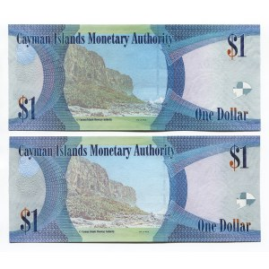 Cayman Islands 2 x 1 Dollar 2014 - 2018