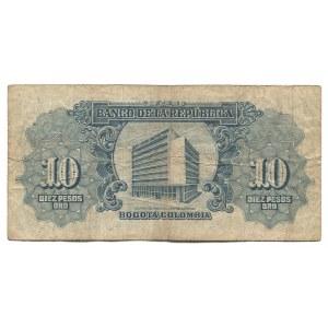 Colombia 10 Pesos Oro 1953