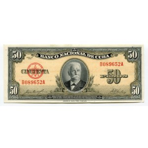 Cuba 50 Pesos 1958