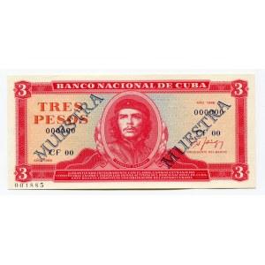Cuba 3 Pesos 1986