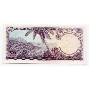 East Caribbean States 20 Dollars 1965 (ND)