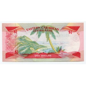 East Caribbean States 1 Dollar 1985 (ND)
