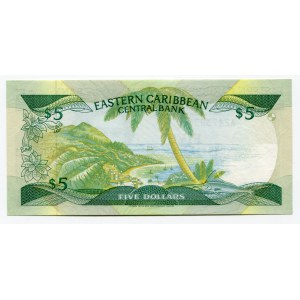 East Caribbean States 5 Dollars 1985 (ND)