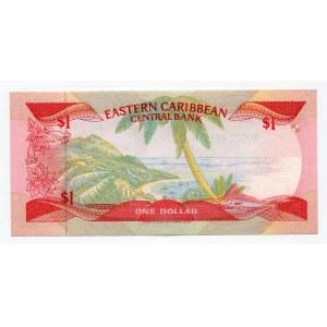 East Caribbean States 1 Dollar 1988 - 1989