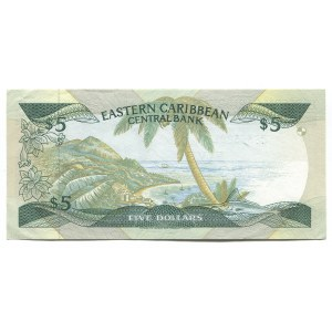 East Caribbean States 5 Dollars 1988 - 1993 (ND)