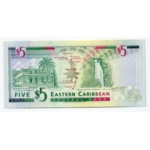 East Caribbean States 5 Dollars 1994 (ND)