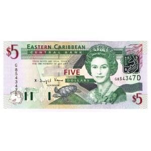 East Caribbean States 5 Dollars 2003
