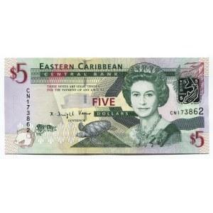 East Caribbean States 5 Dollars 2008