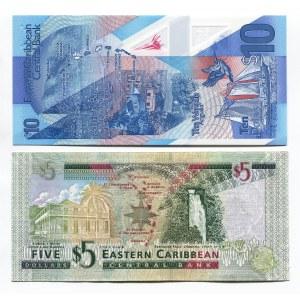 East Caribbean States 5 & 10 Dollars 2008 - 2019