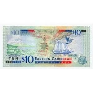 East Caribbean States 10 Dollars 2008