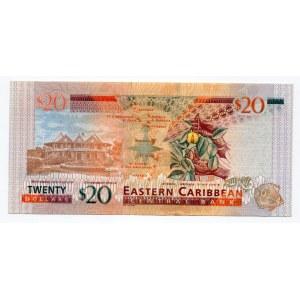 East Caribbean States 20 Dollars 2008
