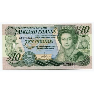 Falkland Islands 10 Pounds 1986