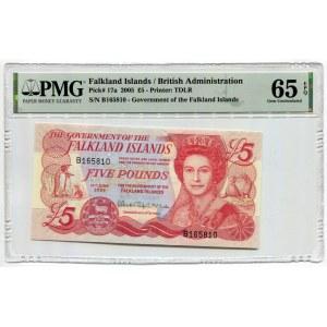 Falkland Islands 5 Pounds 2005 PMG 65 EPQ