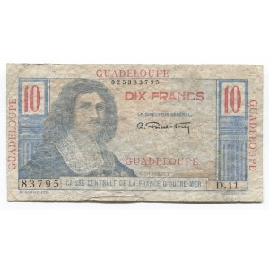 Guadeloupe 10 Francs 1947 - 1949 (ND)