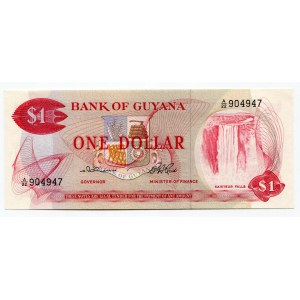 Guyana 1 Dollar 1966 - 1992