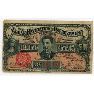 Honduras 50 Centavos 1886