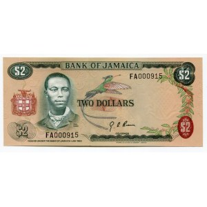 Jamaica 2 Dollars 1973