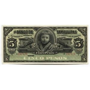 Mexico 5 Pesos 1902 - 1914 Tamaulipas