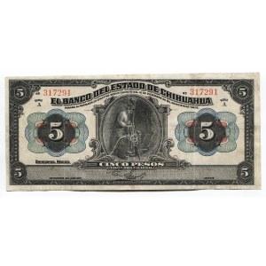 Mexico 5 Pesos 1913 Chihuahua
