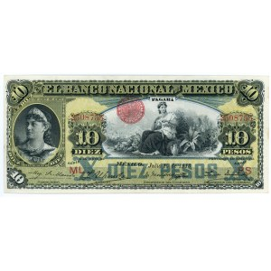 Mexico 10 Pesos 1913