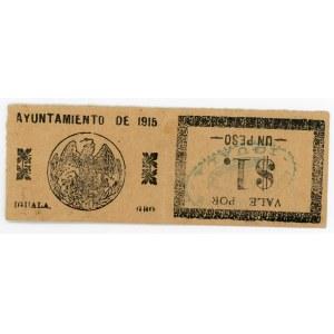 Mexico 2 x 1 Peso 1915
