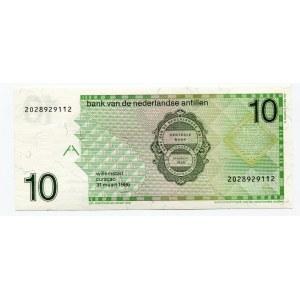 Netherlands Antilles 10 Gulden 1986