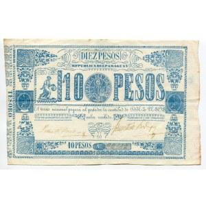 Paraguay 10 Pesos 1865