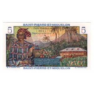 Saint Pierre & Miquelon 5 Francs 1950
